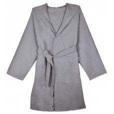 Microfiber Hooded Bathrobe Robe
