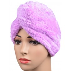 Microfiber Ultra Absorbent Twist Hair Turban Drying Cap Hair Wrap Cap 9.5 Inchx24.4 Inch