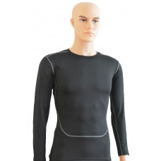 Compression Base Layer Long Sleeve Under Shirt  Black