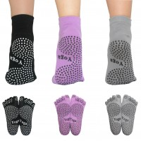 Yoga Pilates Socks Non Slip Resistant With Grips for women 2 Packs