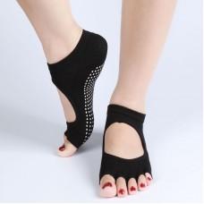 Women Non-Slip Yoga Socks Pilates Toeless Gym Exercise Socks